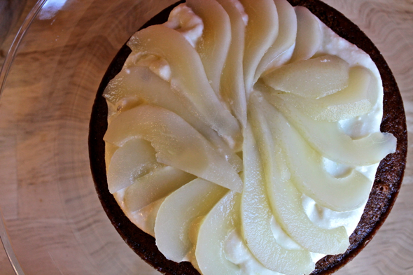Gingerbread Cake with Poached Pears and Mascarpone Cream | Savory ...